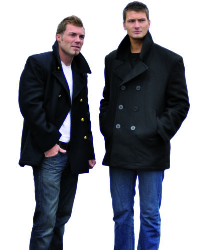 Outdoorjacke Jacke Mil-Tec US NAVY PEA COAT TUCH SCHWARZ KN.SCHW