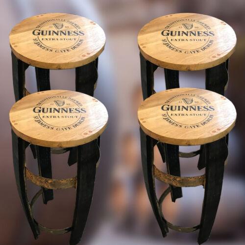 Recylcé en Bois Chêne Massif Whisky Baril Portée Guinness Branded Barre Tabouret
