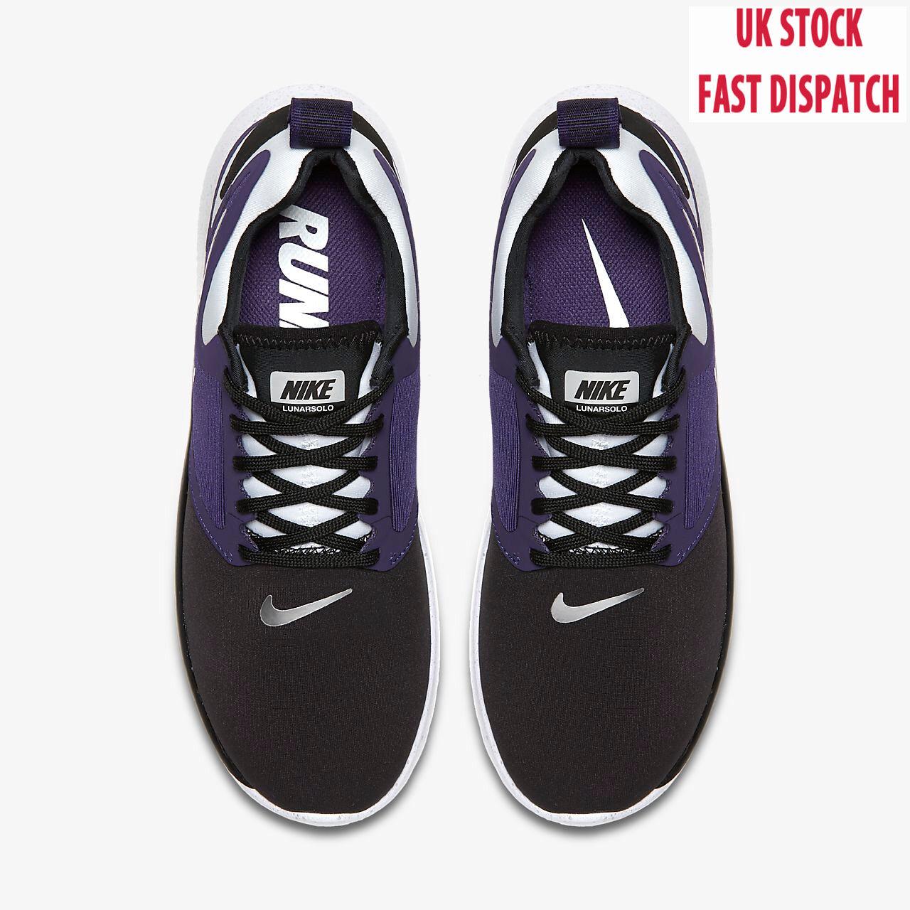 5c8b3ad811 Hot Nike LunarSolo Trainers Running shoes sneakers Purple Black metallic
