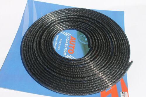 6 M Chrome Noir De Carbone Voiture Van Bus Camper Door Edge Guard Protector Trim Strip