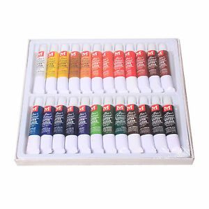 Hot-24-Color-12ml-Paints-Tube-Draw-Painting-Water-Color-Set