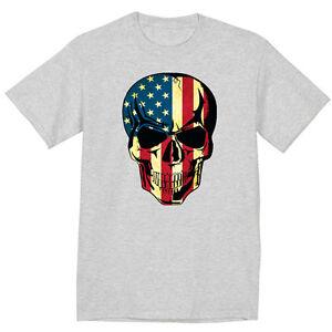 big and tall t shirt for men usa skull us american flag