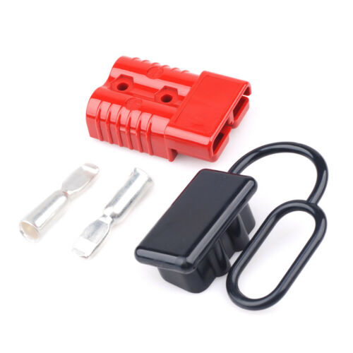 175A 600V Battery Quick Connect Disconnect with Dust Cover Power Connector Red