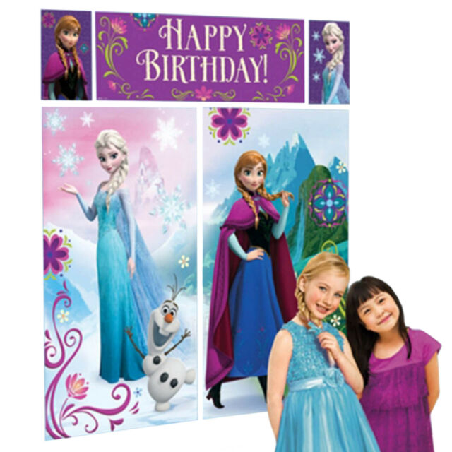 Disney's FROZEN Classic Birthday Party Scene Setter Wall Decoration Kit