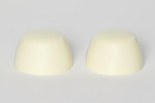 MANCHU YELLOW Case Replacement Plastic Toilet Bolt Caps Set of 2