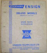 Standard Ensign De Luxe Models Original illustrated Spare Parts Catalogue 511409