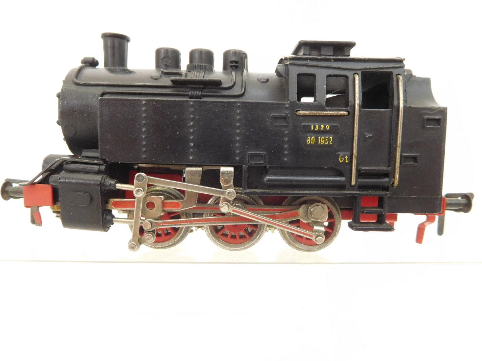 Eso-7400 Fleischmann h0 máquina de vapor 80 1952 con el deterioro, función examinado