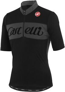 Castelli-Gino-Men-039-s-Short-Sleeve-Wool-Cycling-Jersey-NEW-CLEARANCE