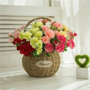 Artificial Carnation Silk Flowers Bouquets Fake Floral Plants Home Office Decor
