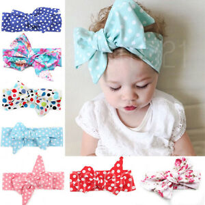 Baby Girls Floral Headwrap Top Knot Big Bow Turban Tie Headband Hair ... c2919dbcb7a