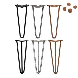 Table legs 4er Set Hairpin Leg Hairpin Legs Table Frame Steel Table 40.5cm