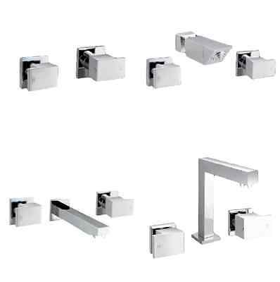 Messina Tapware - Square Basin, Bath, Shower and Wall Taps Sets