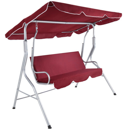 Heavy Duty Counter Stools, Garden Swing Seat Outdoor Bench Chair 3 Seater Patio Hammock Terrace Canopy Sfhs Org