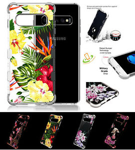 Samsung-Galaxy-S10-Plus-Flower-Bling-Hybrid-Armor-Rubber-Protective-Case-Cover