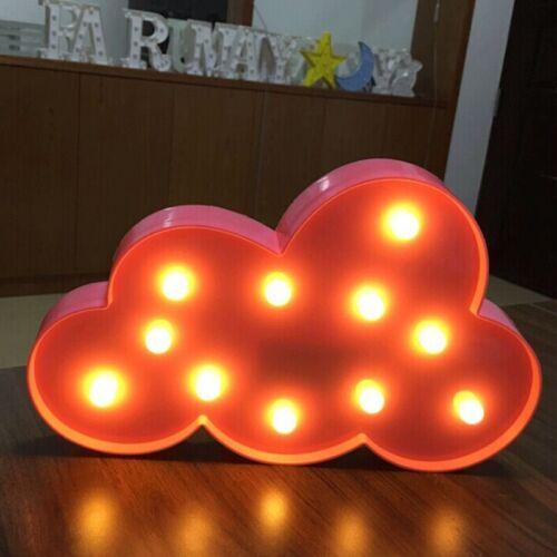 3D Shape LED Night Light Star Moon Cloud Wall Desktop Kids Room Nursery Lamp DIY