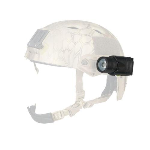 Tactical M-3 LED Flashlight Fit 20mm Rail for Sports Helmet Light Black//Tan