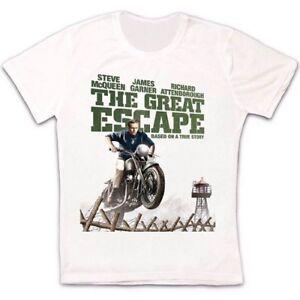 The-Great-Escape-Steve-McQueen-60s-Prison-Movie-Retro-Unisex-T-Shirt-1115