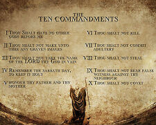 MOSES THE TEN COMMANDMENTS 8X10 PHOTO PICTURE CHRISTIAN ART