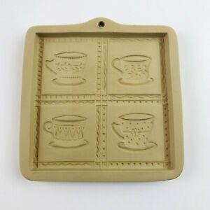 Brown-Bag-Cookie-Art-Mold-Teacup-Cut-Apart-1997-Rare