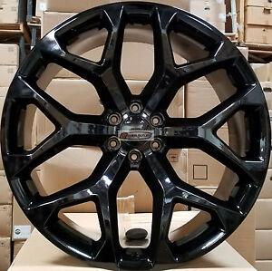 Image Is Loading 26 Gmc Replica Wheels Tires Gloss Black Rims