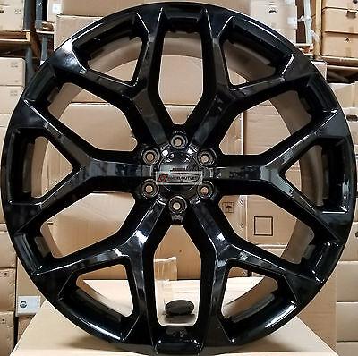 20 Gmc Replica Wheels Black Rims Tires Yukon Sierra Chevy Tahoe Silverado Ltz Ebay