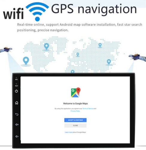 """7/"""" GPS navigation Android 8.1 Double 2DIN Car Auto Stereo Radio WIFI 4G OBD BT"""