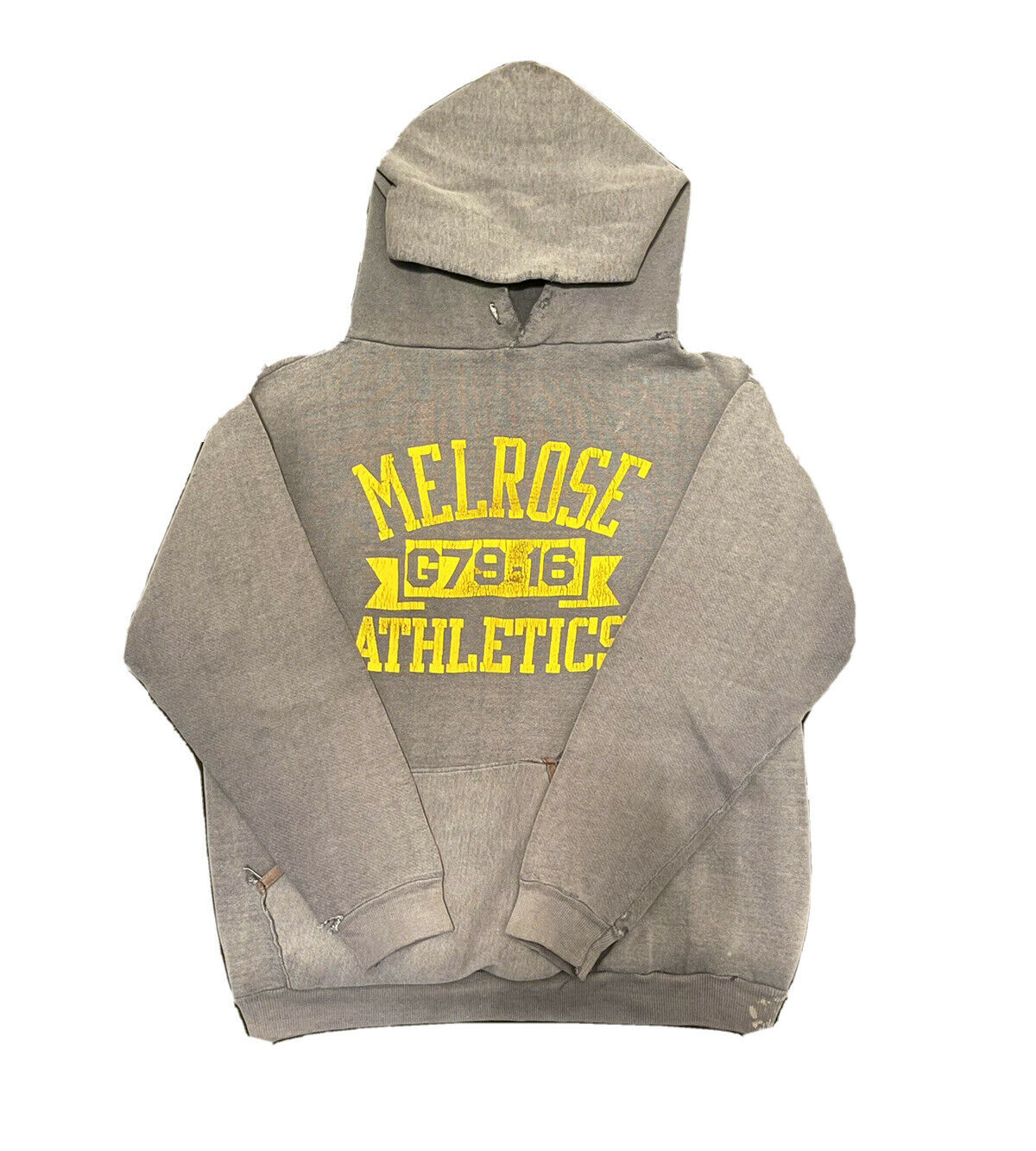 VTG 70s Sun Faded Russell Gold Tag M Hoodie Sweat… - image 3