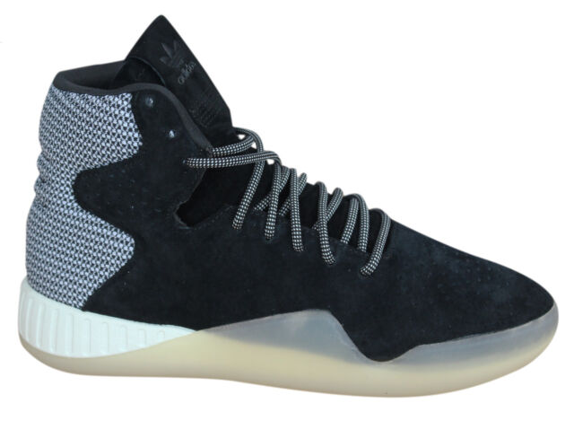 best service 7d114 02f35 Adidas Tubular Instinct Lace Up Black Leather Suede Hi Trainers S80088 Opp  M10