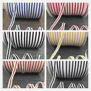 DIY-5-10-20yards-3-8-034-10mm-Velvet-stripe-Ribbon-Headband-Clips-Bow-Craft-supplies