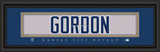 "KANSAS CITY ROYALS ALEX GORDON PRINT -  8""X24"" FRAME"