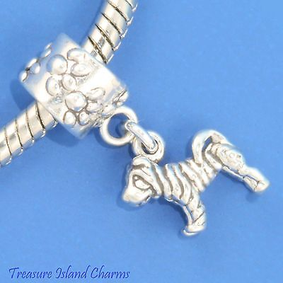 SHAR-PEI DOG .925 Solid Sterling Silver EUROPEAN EURO Dangle Bead Charm
