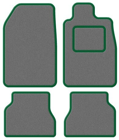 UNIVERSAL CARPET CAR FLOOR MATS GREEN TRIM SET OF 4 96-03 CITROEN SAXO