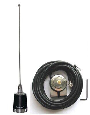 Antenna 5//8 NMO UHF 450-470 3dBd Hole Mount Mini-UHF for Motorola Mobile Radio