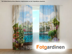 Fotogardinen Balkon Vorhang 3d Fotodruck Fotovorhang Mit Motiv