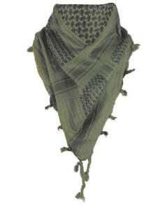 mejores zapatillas de deporte 292fe 5c30e Detalles de Pañuelo palestino / Shemagh negro verde oliva - bufanda árabe  casual militar
