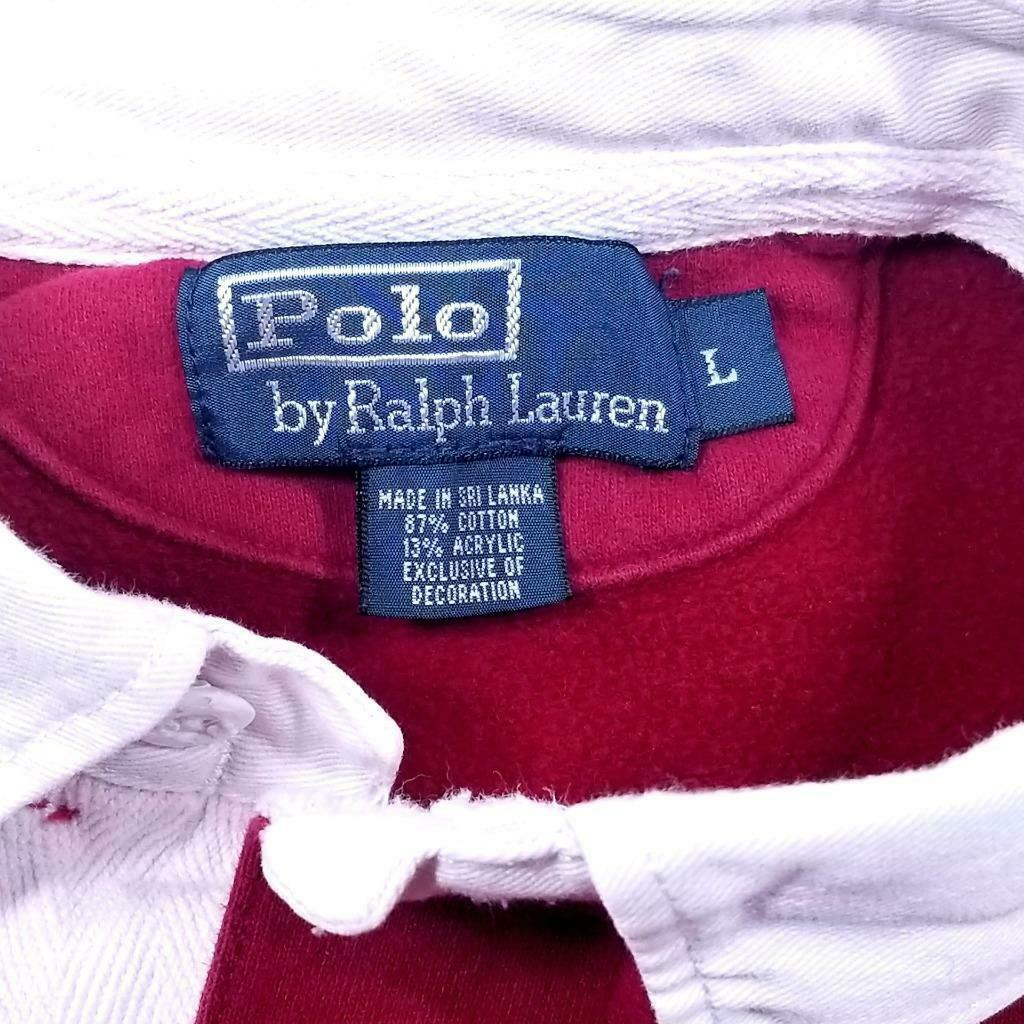 Mens POLO by RALPH LAUREN 80's Rugby Shirt - L - … - image 3