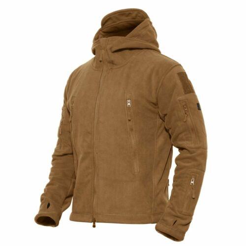 Mens Outdoor Winter Fleece Tactical Army Jacket Windproof Hiking Coats Outwear
