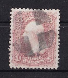 Sportif United States : 1861 3 Cents Washington ( Scott 65 ) Nice Cancelled