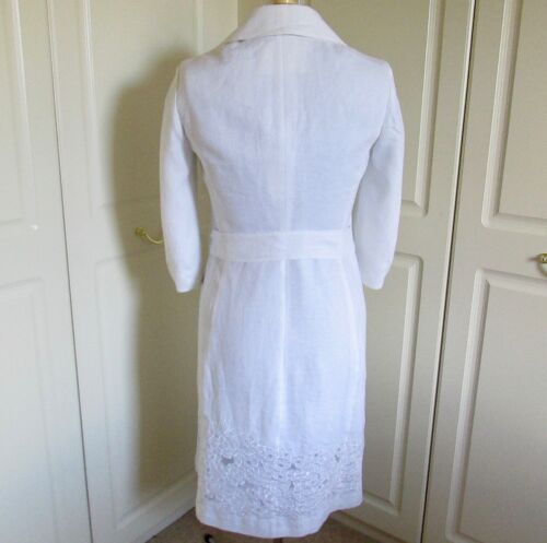 White 3 Bright Occasion Coat Beautiful Sleeve Size 100 Lined Per 12 Una Linen 4 CZSwXn1q