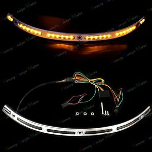 LED-Illuminated-Windshield-Chrome-Trim-For-Harley-Touring-Electra-Glide-14-18