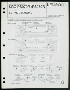 Tv, Video & Audio Und Ausland Weithin Vertraut. Kenwood Krc-ps979r/ps989r Original Service-manual/diagram/part List O206 Um Eine Hohe Bewunderung Zu Gewinnen Und Wird Im In