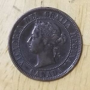 Canada-1900-No-Mint-Mark-One-Cent-F-Check-It-Out-KM-7-AA150