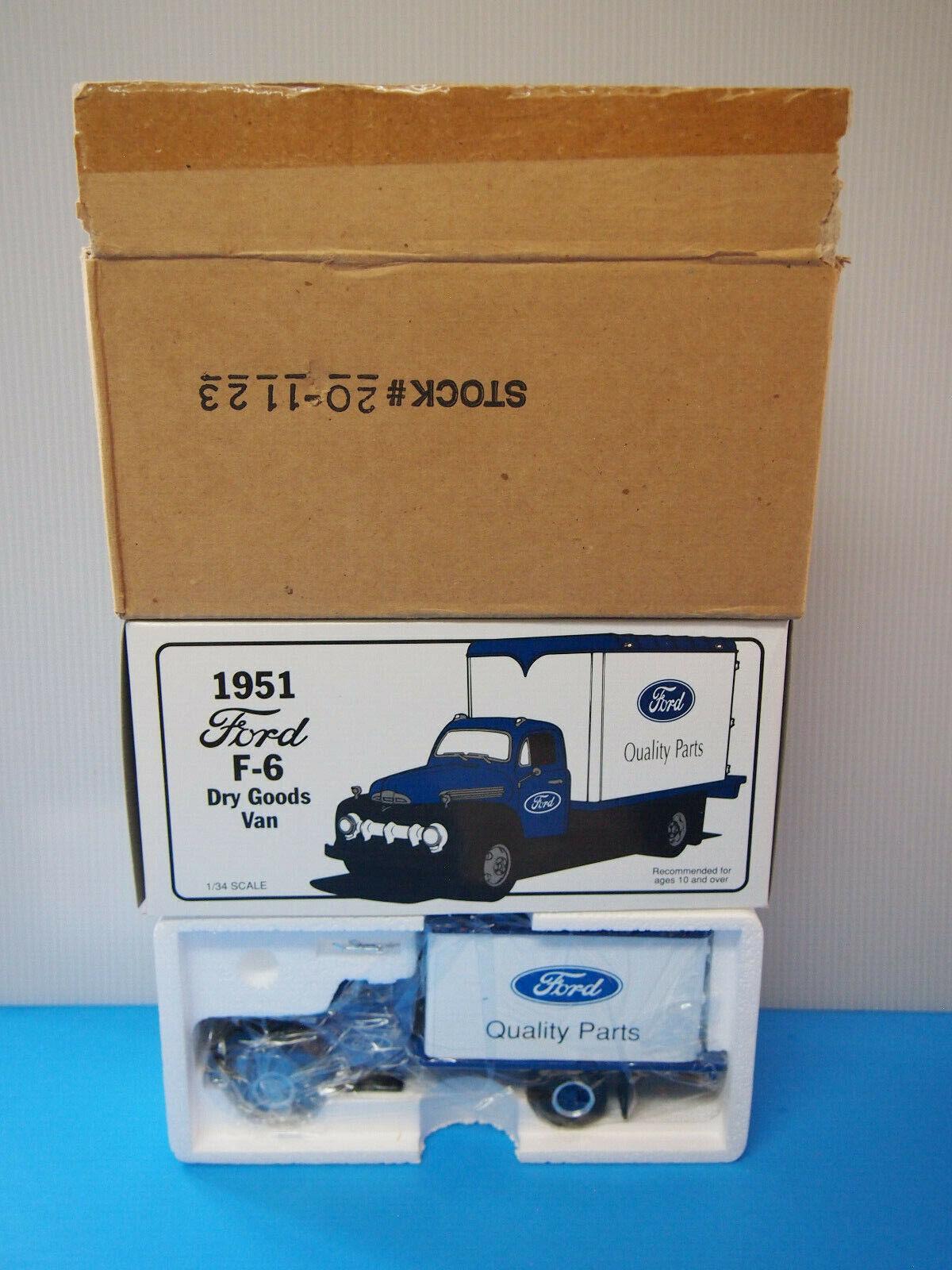 1951 Ford F6 Dry Goods van 1 34 - Hershey's Jarabe-First Gear   19-1002