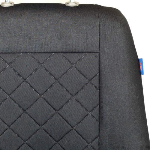 Intensiv Schwarze Sitzbezüge für CiTROEN BERLINGO VAN Autositzbezug SET 1+2