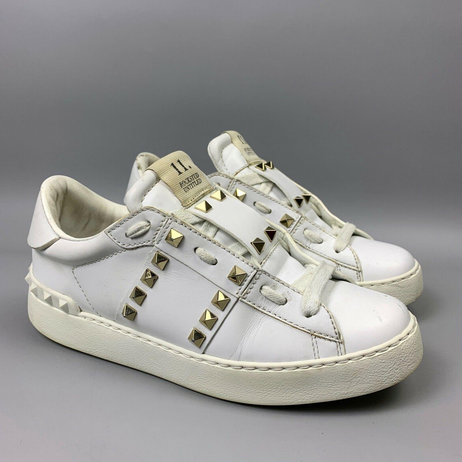 Valentino Garavani rockstud Sneakers Taille 37,5 Femmes Blanc Chaussures en cuir