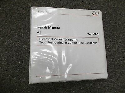 2001 2005 Audi A4 Quattro Electrical Wiring Diagram Manual Binder 2002 2003 2004 Ebay