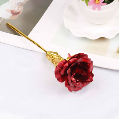 24k gold plated golden rose flowers anniversary valentine/'s day lovers/' TO