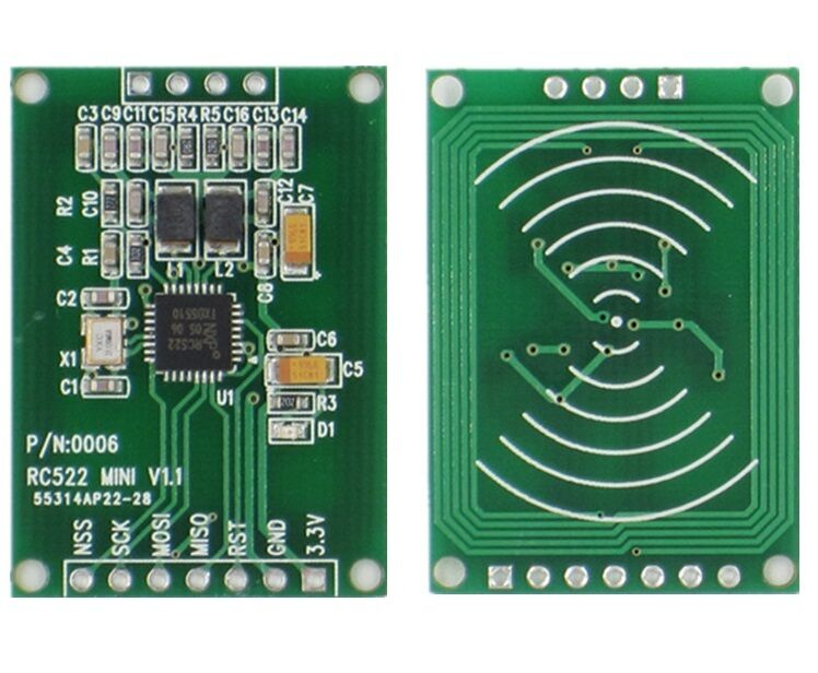 13.56MHz RFID module for arduino mf rc522 rc-522 reader writer card module BP AA
