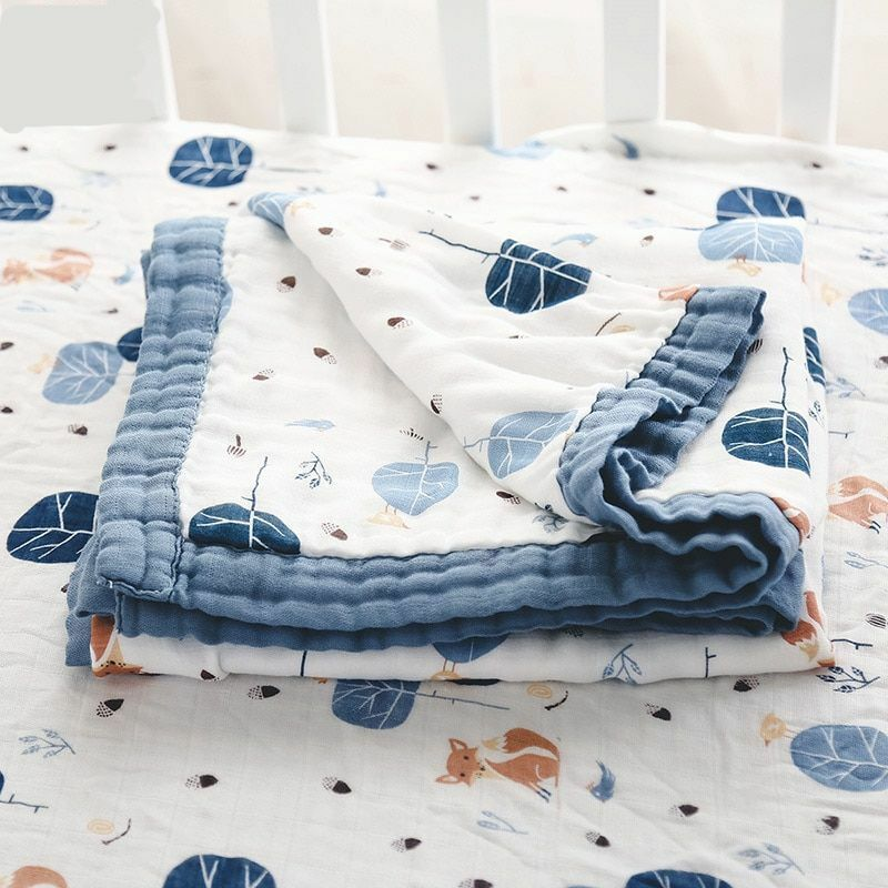 TILLYOU Muslin Cotton Swaddle Baby Blanket with Pom Pom Thermal Warm Unisex Hospital Swaddling Blanket Crib 44x44 Large Galaxy Space Breathable /& Lightweight Gauze Sleeping Blanket for Toddler Bed