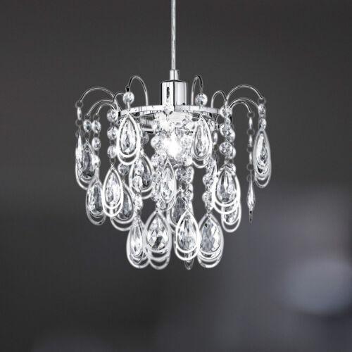 1 von 1 - Wofi Pendelleuchte  Carree 1-flg Chrom Behang ø31 cm E27 Fassung Lampe Leuchte
